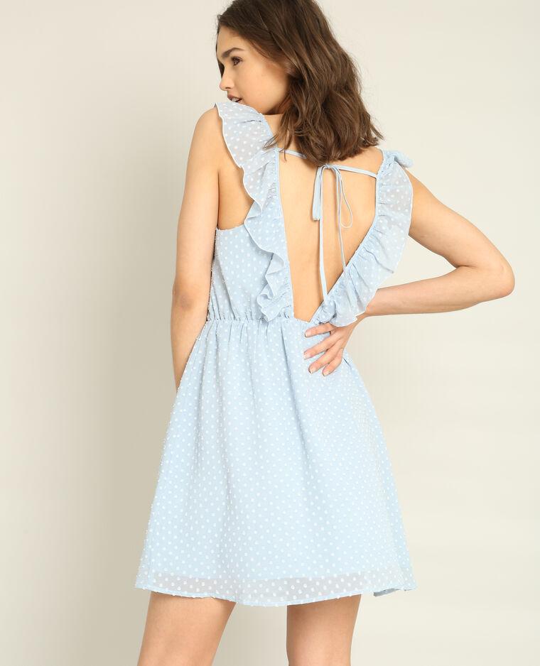 Robe en plumetis Bleu clair