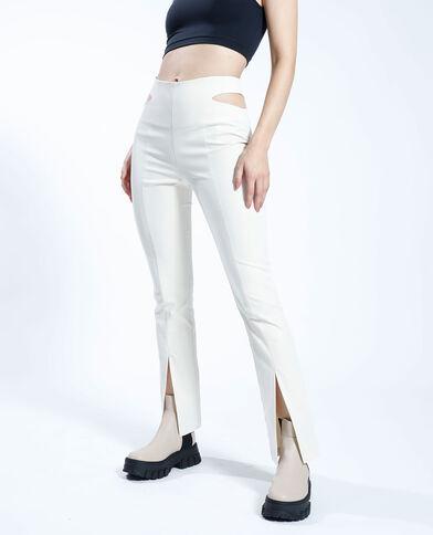 Pantalon avec découpes beige - Pimkie