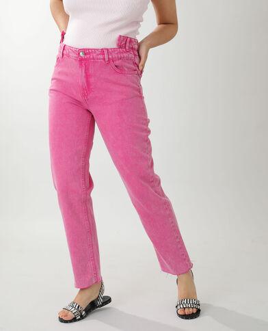 Jean straight high waist rose - Pimkie