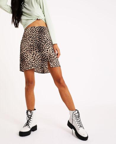 Jupe léopard noir