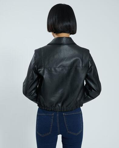 Blouson simili cuir noir - Pimkie