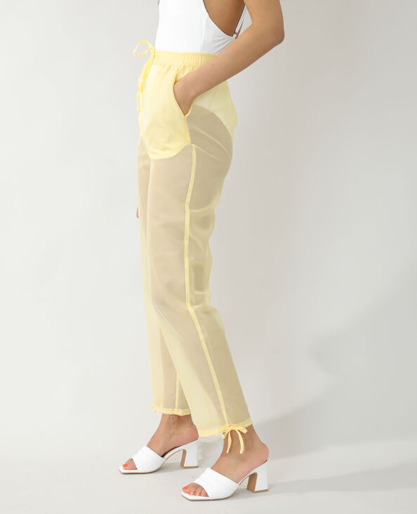 Pantalon transparent jaune - Pimkie