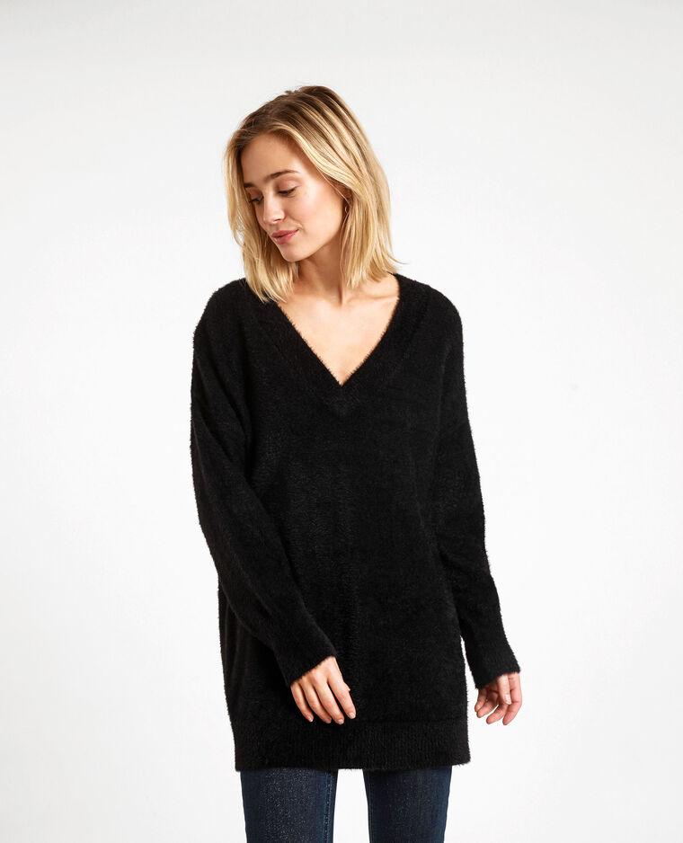 Pull oversized fluffy noir - Pimkie