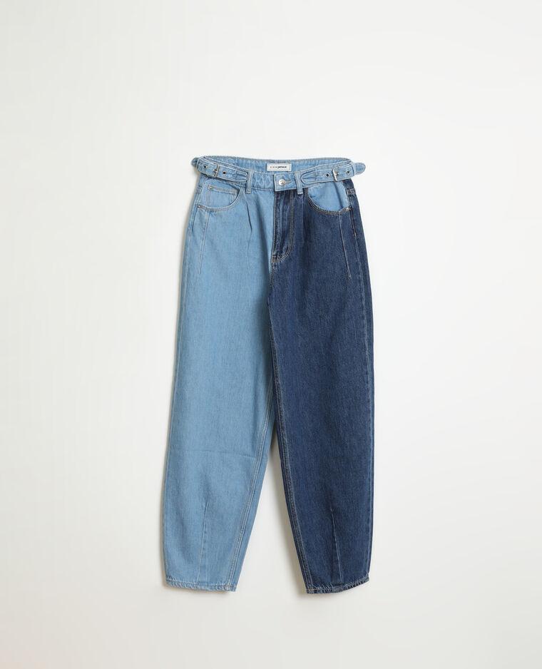 Jean slouchy high waist bleu denim - Pimkie