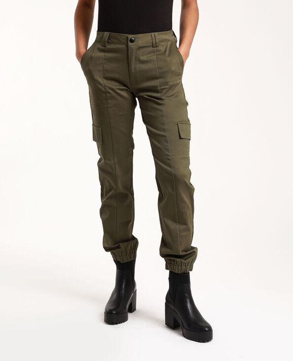 Pantalon cargo vert