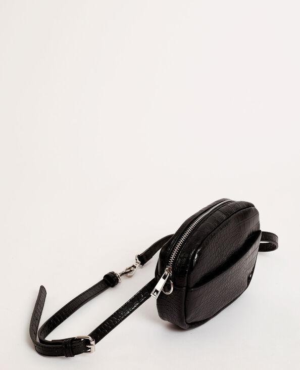 Pochette python noir