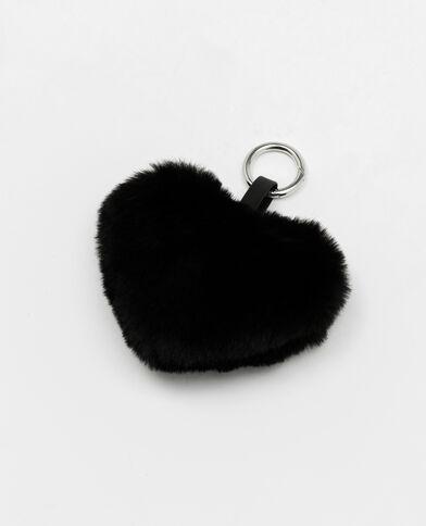 Porte-clés cœur noir