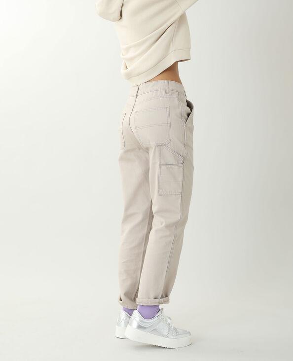 Pantalon droit beige