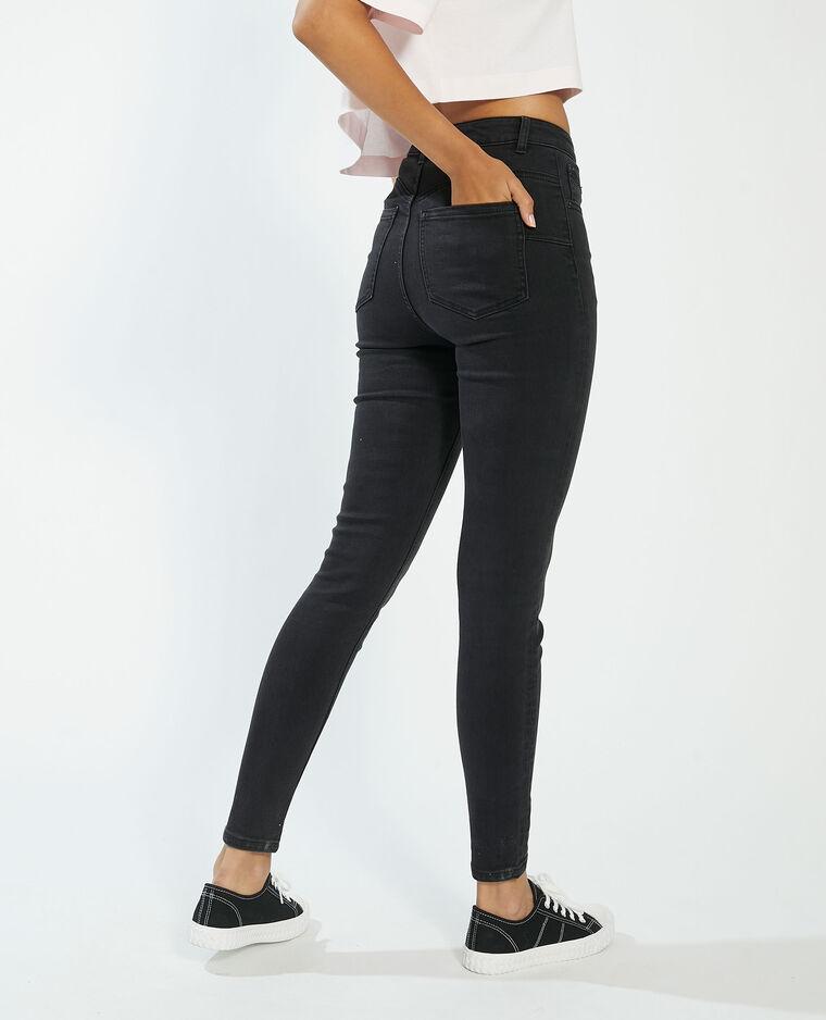 Jean push-up high waist noir - Pimkie