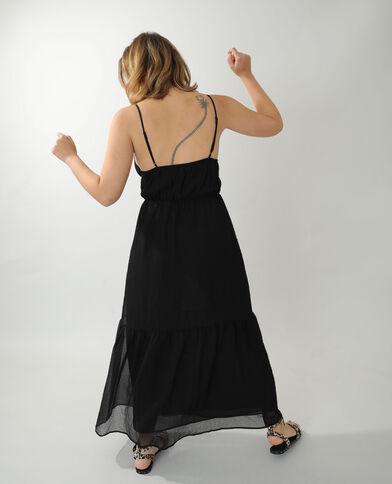 Robe longue gaufrée noir