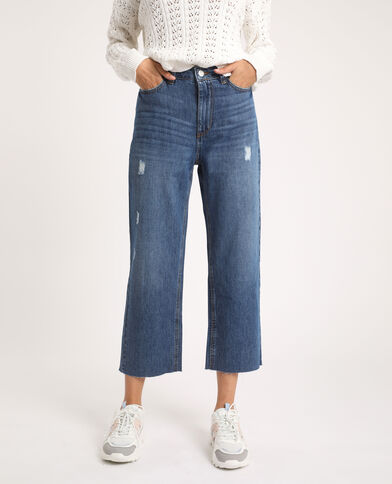 Jean straight high waist bleu denim