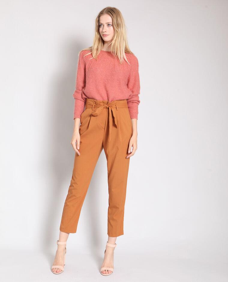 Pantalon carotte rouille
