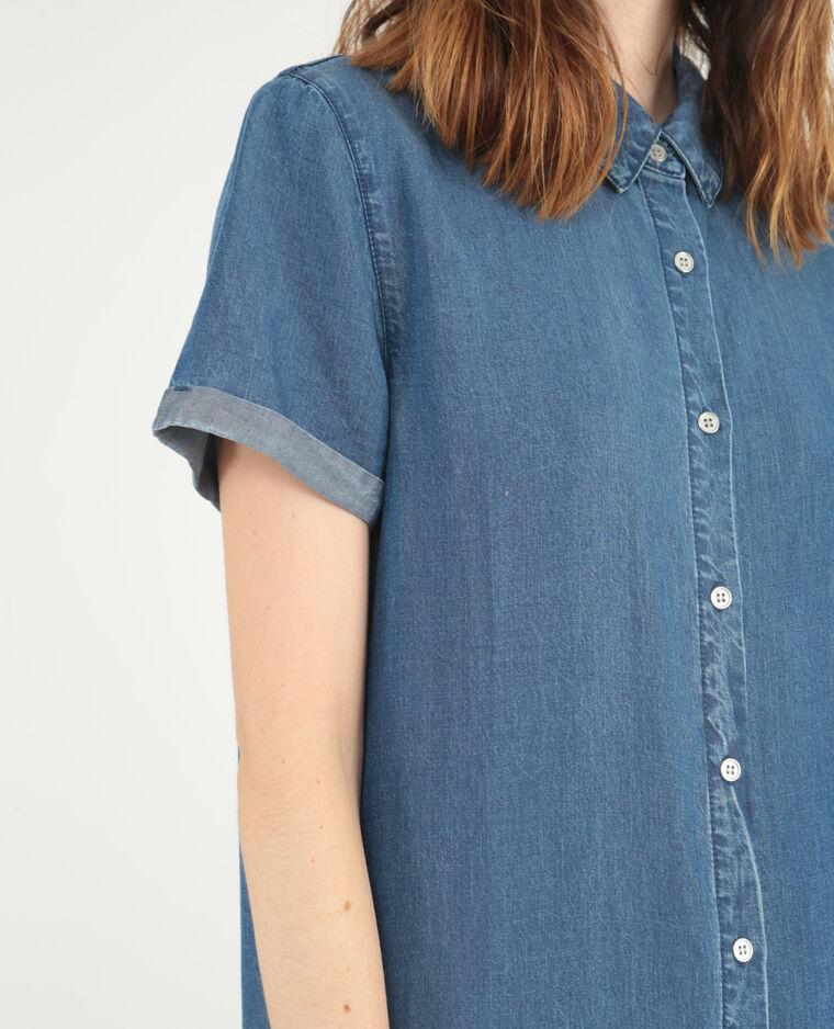 Robe chemise longue bleu - Pimkie