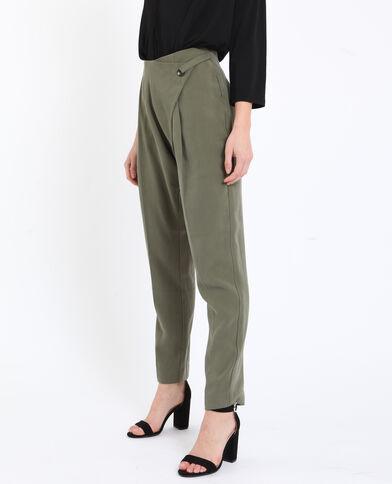 Pantalon fluide vert