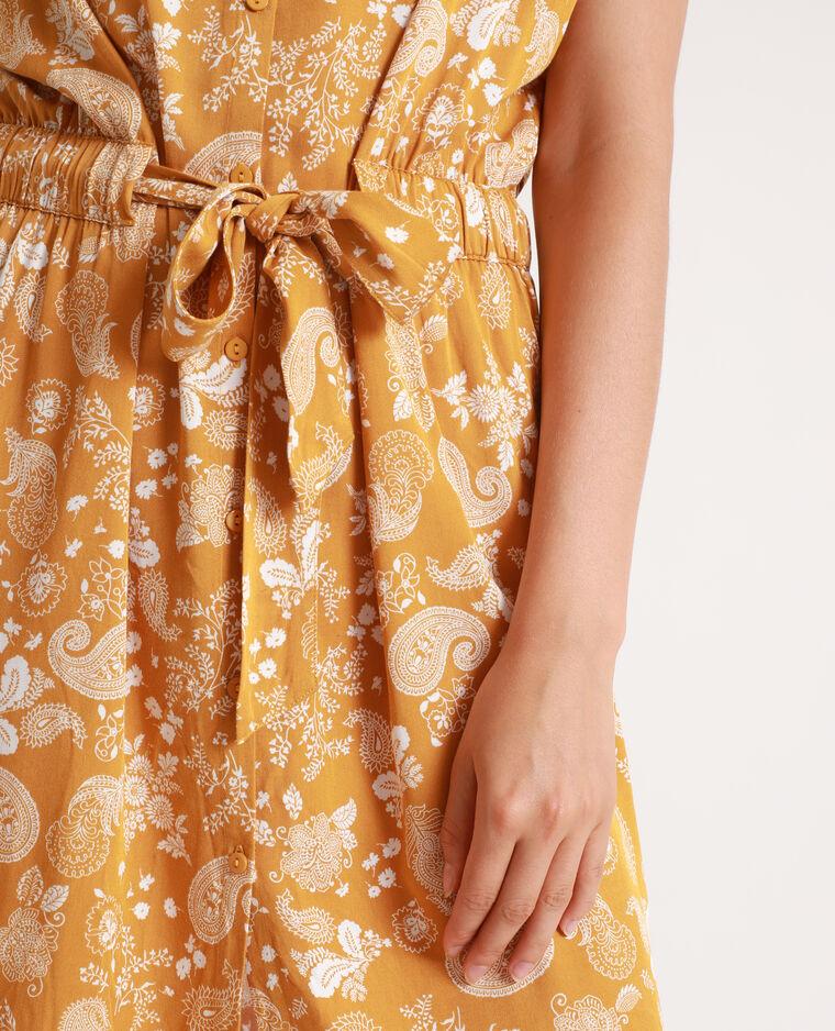 Robe boutonnée jaune