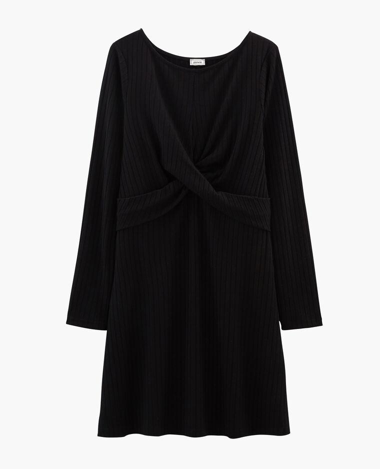 Robe twistée noir