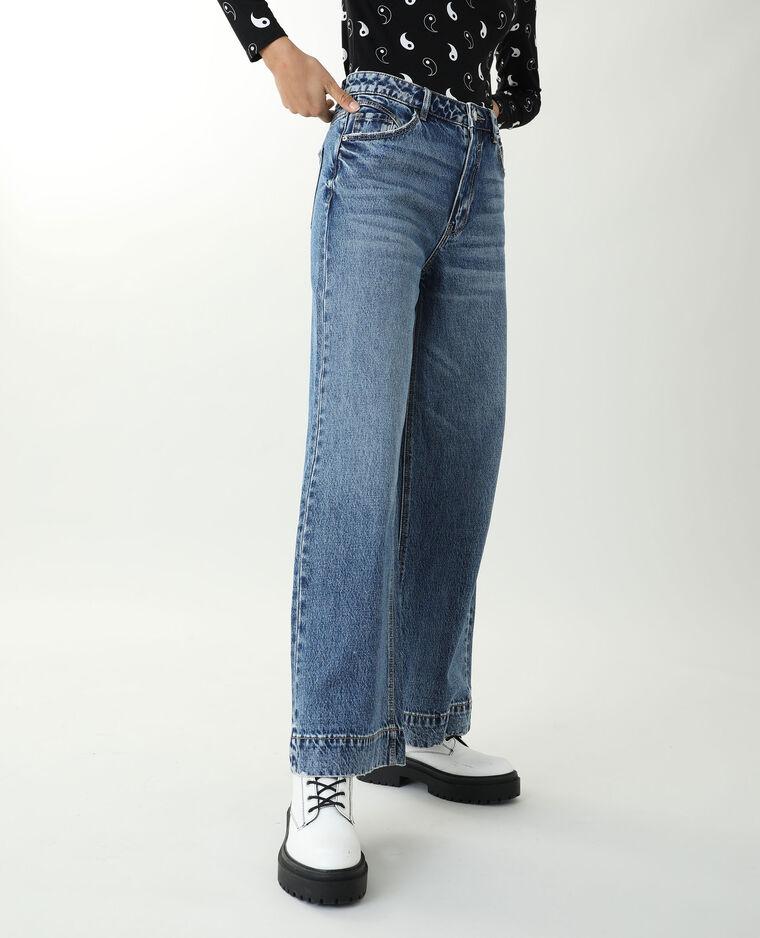 Jean wide leg high waist bleu denim