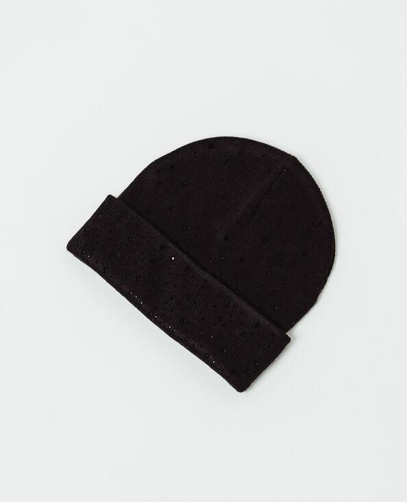 Bonnet à strass noir