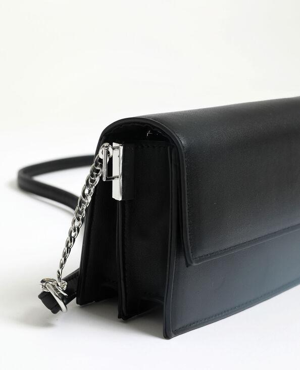 Petit sac en simili cuir noir
