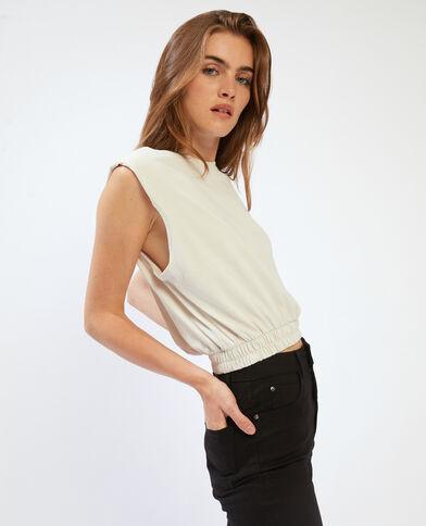 T-shirt épaulettes beige - Pimkie