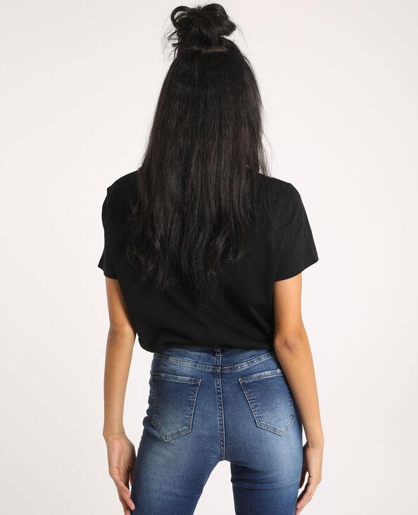 T-shirt à message noir