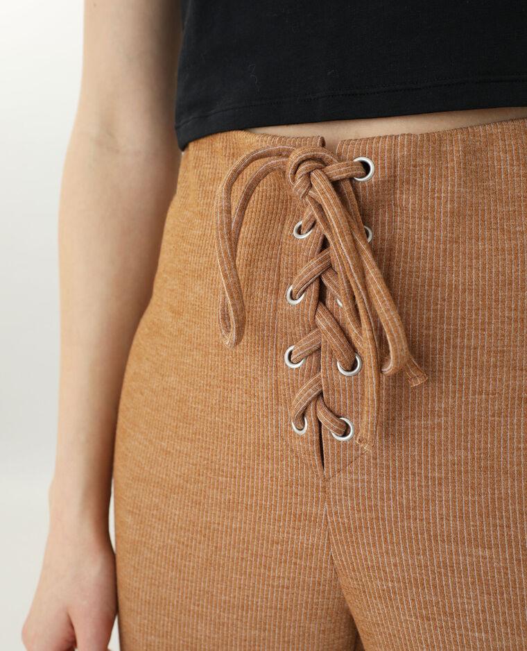Pantalon en maille marron - Pimkie
