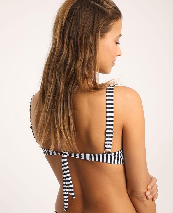 Haut de bikini à rayures blanc