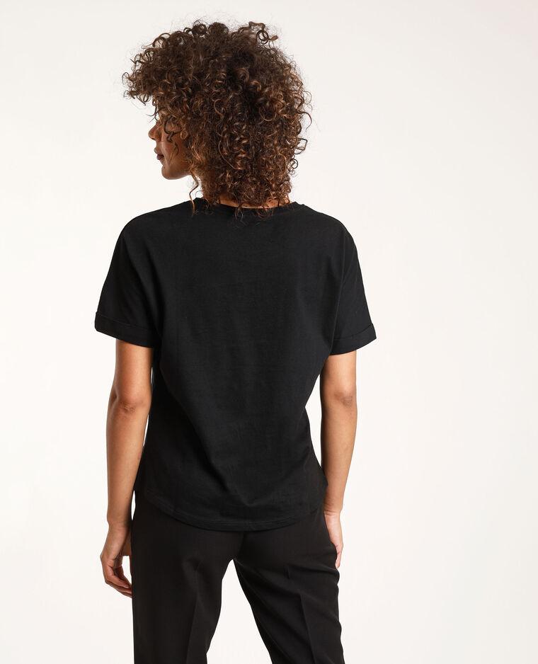 T-shirt Stéphanie Durant x Pimkie noir
