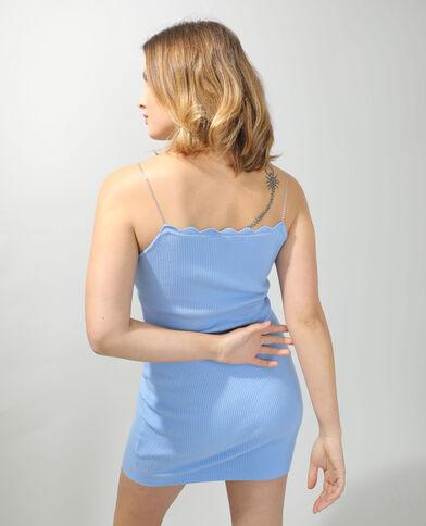 Robe moulante à bretelles chaînette bleu - Pimkie