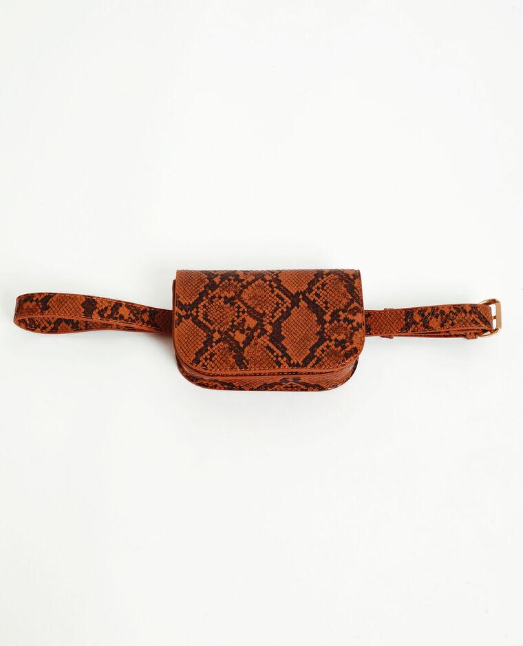 Petit sac python orange