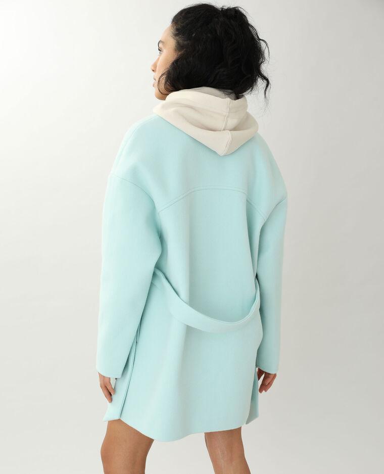 Manteau drap de laine vert - Pimkie