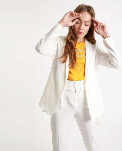 Blazer à ceinture blanc