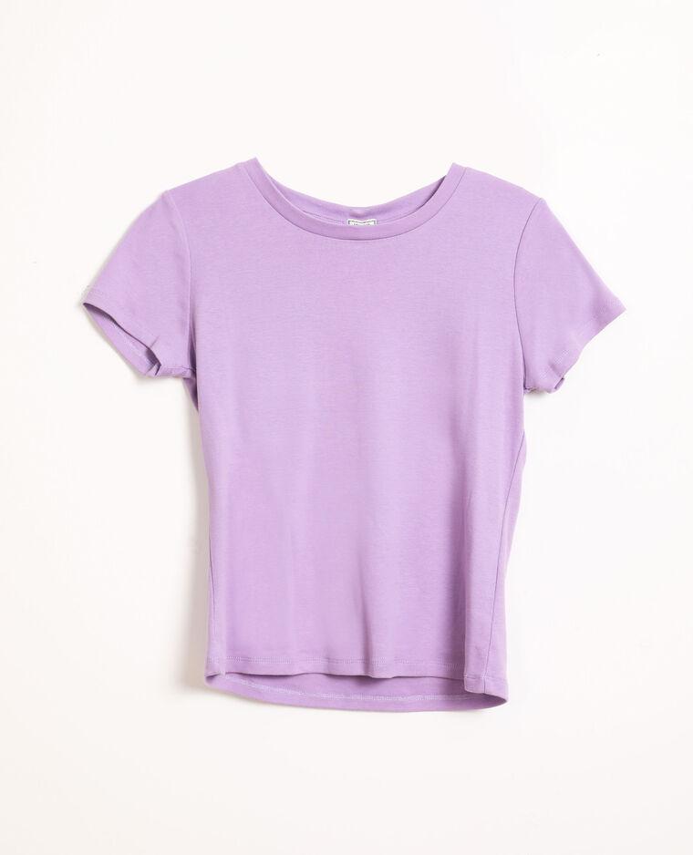 T-shirt basique lilas
