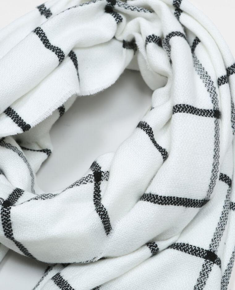 995942dcecdb Echarpe oversize à carreaux blanc cassé - 902062912B08   Pimkie
