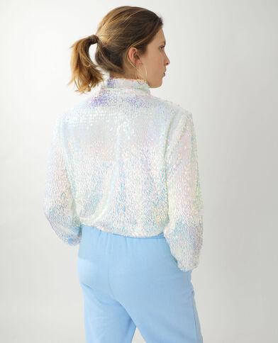 Veste à sequins blanc - Pimkie
