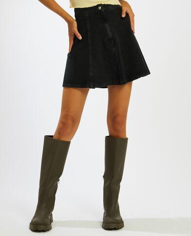 Jupe courte en jean gris foncé - Pimkie