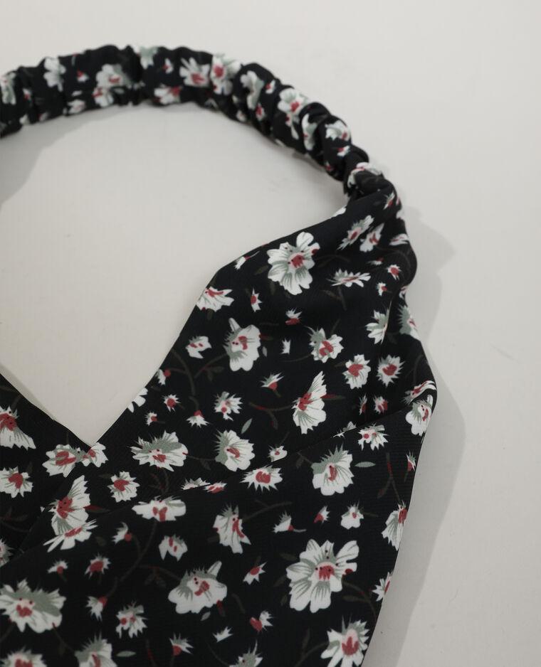 Bandeau fleuri noir - Pimkie