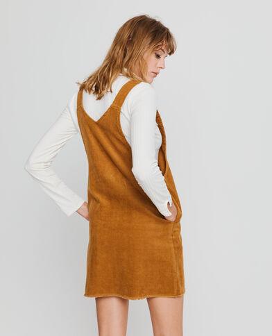 Robe salopette marron