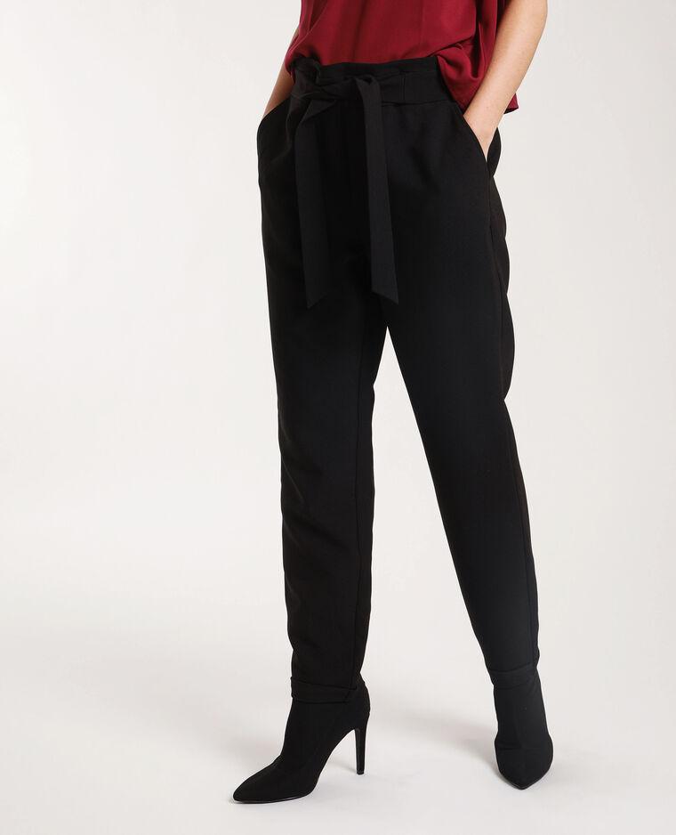 Pantalon city avec ceinture noir