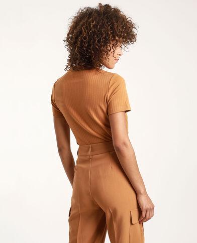 T-shirt à manches courtes camel