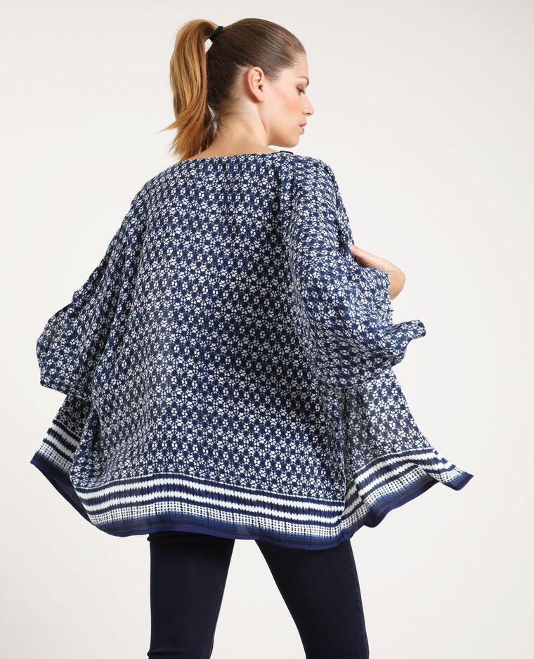 Kimono imprimé bleu