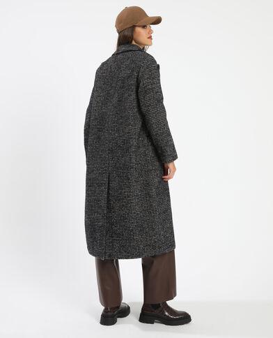 Manteau long avec 50% de laine noir - Pimkie