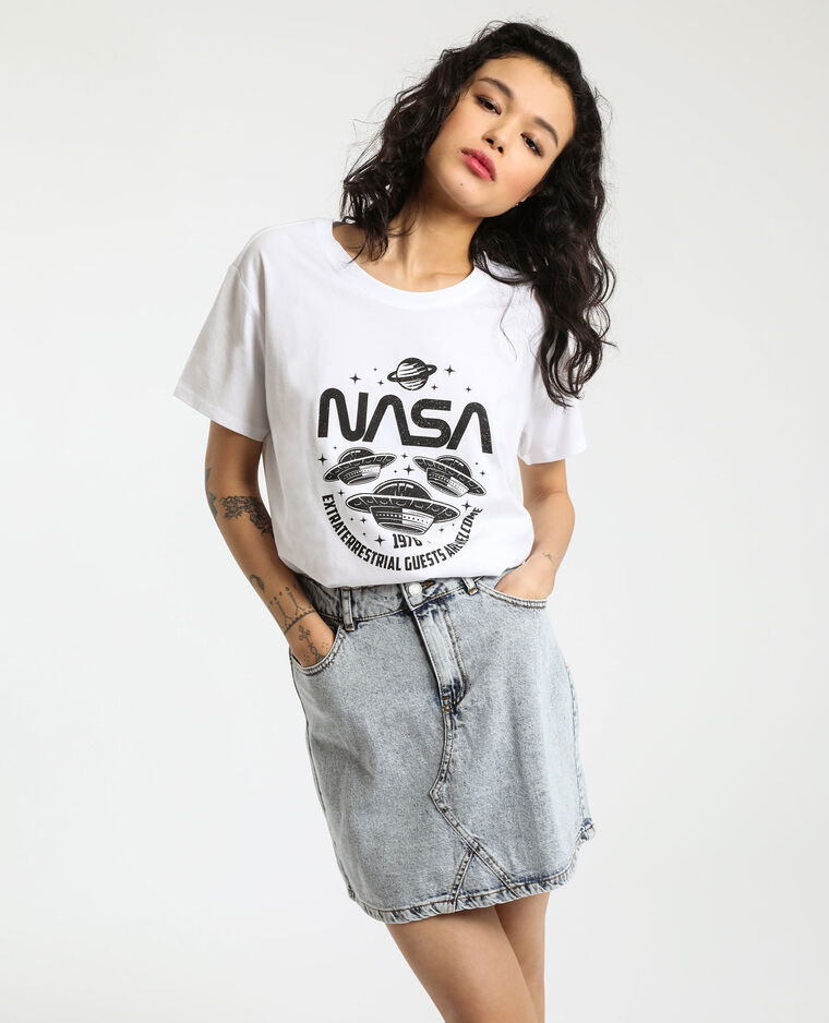 T-shirt NASA blanc