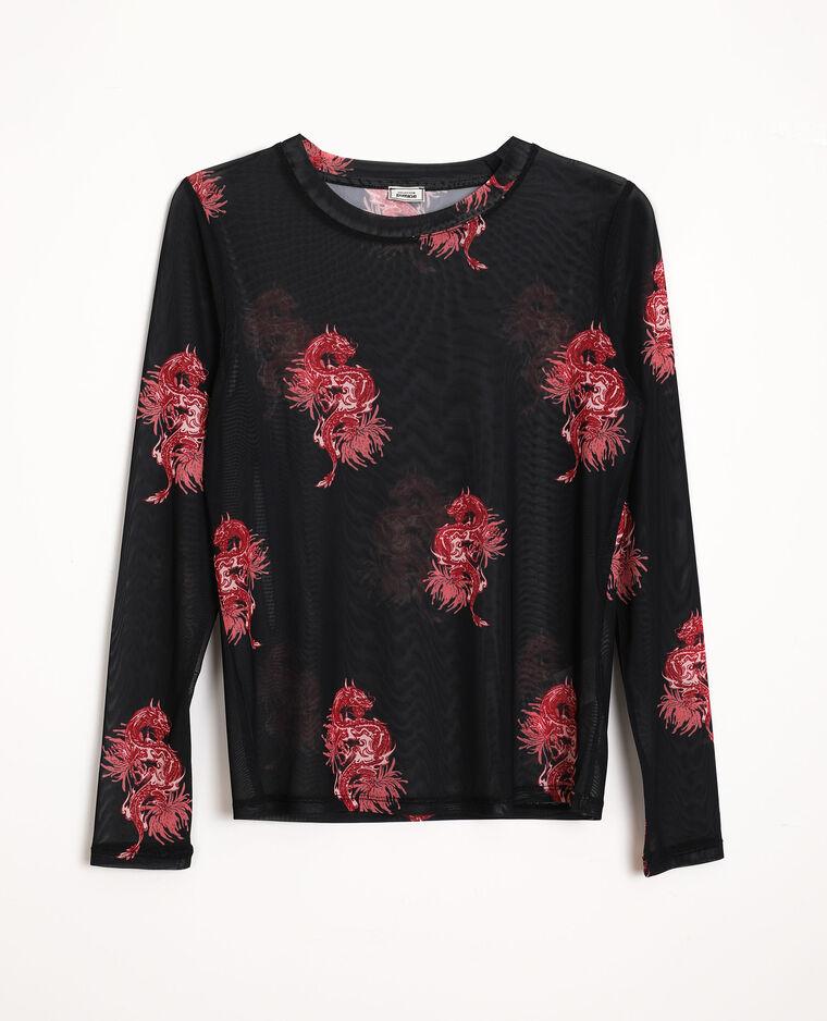 T-shirt en mesh noir