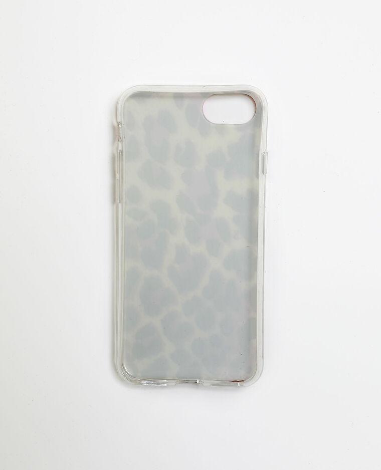 Coque léopard pour iPhone 6/6S/7/8 blanc cassé