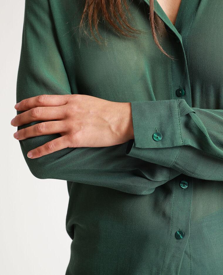 Chemise longue vert