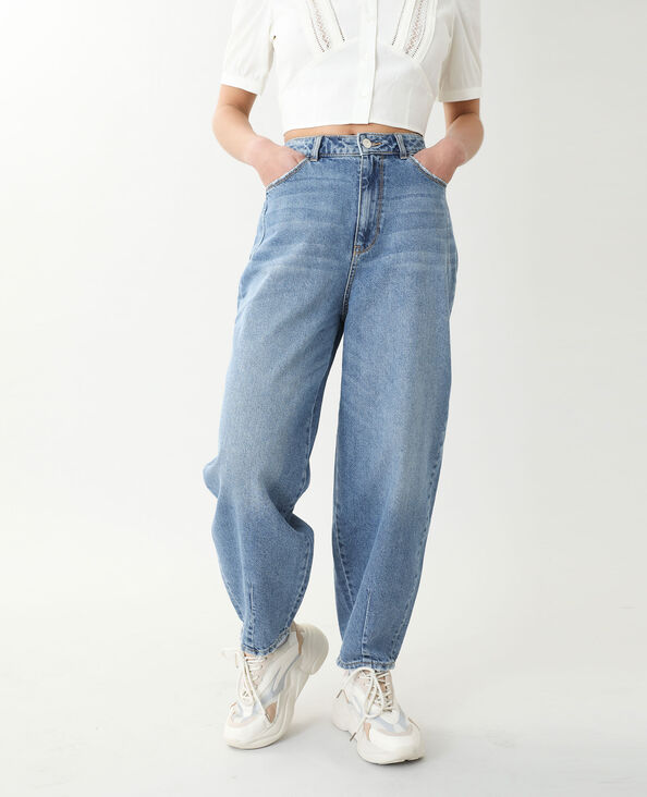 Jean slouchy high waist bleu denim