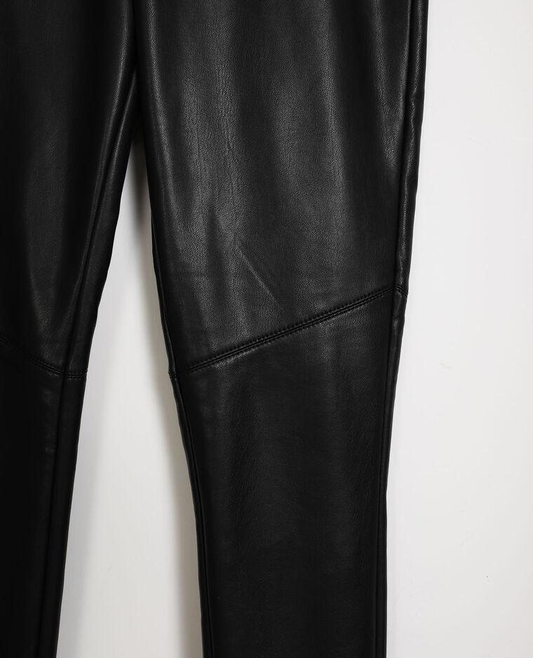 Legging en simili cuir noir