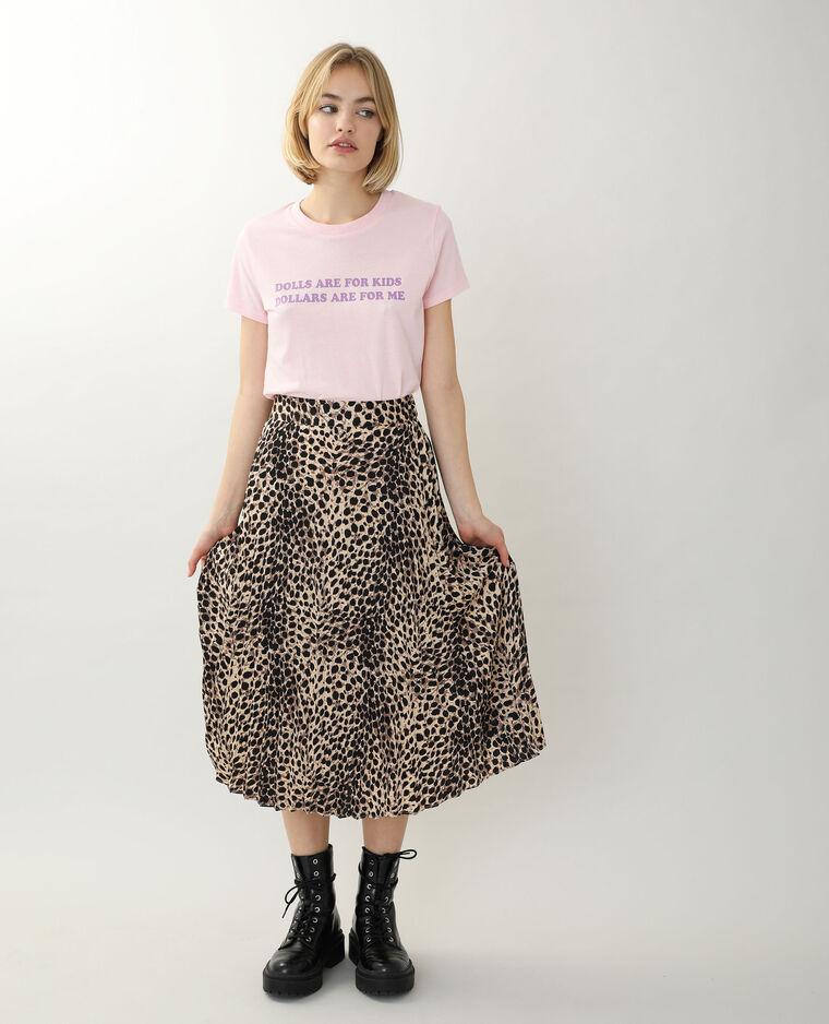 T-shirt à message rose - Pimkie