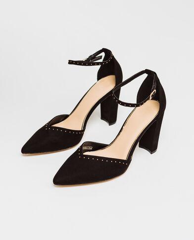 Sandales cloutées noir